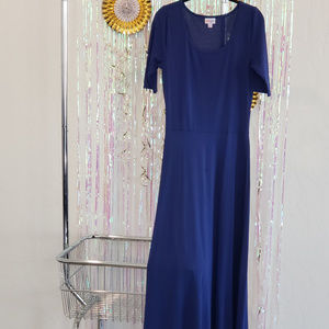 Lularoe Ana Maxi dress, blue, Size M